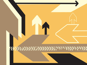Direction Of Movement Vector Banner