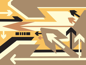 Direction Of Movement Vector Wallpaper
