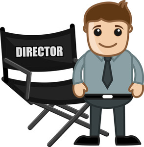 Director Chair - Business Cartoons Vectors