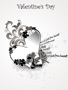 Dirty Background With Decorated Heart