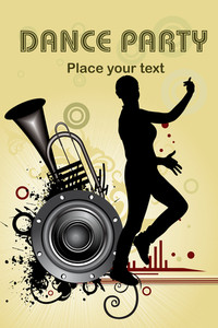 Dirty Instrument Background With Girl Silhouette