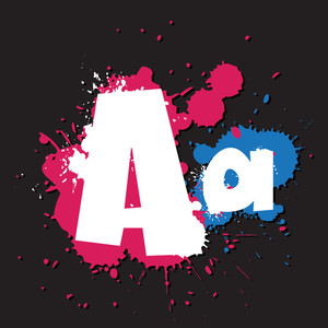 Dirty Letter A. Vector Illustration