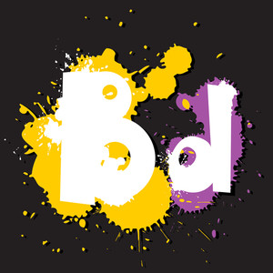 Dirty Letter B. Vector Illustration