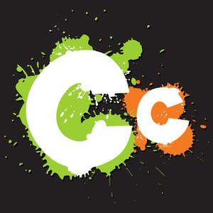 Dirty Letter C. Vector Illustration