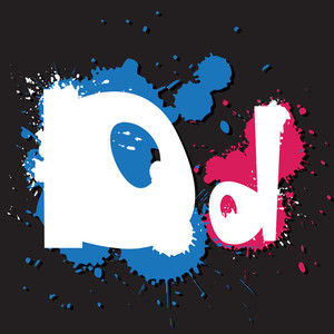 Dirty Letter D. Vector Illustration