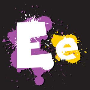 Dirty Letter E. Vector Illustration