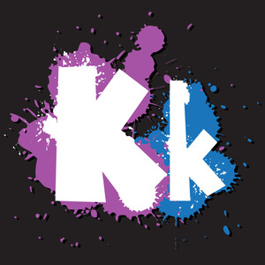 Dirty Letter K. Vector Illustration