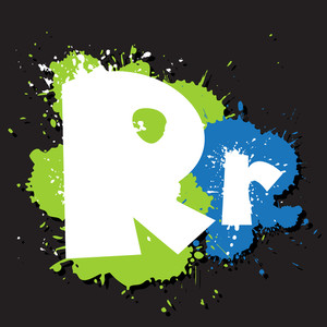 Dirty Letter R. Vector Illustration