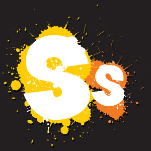 Dirty Letter S. Vector Illustration