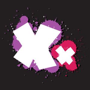 Dirty Letter X. Vector Illustration