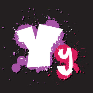 Dirty Letter Y. Vector Illustration