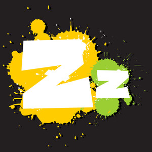Dirty Letter Z. Vector Illustration