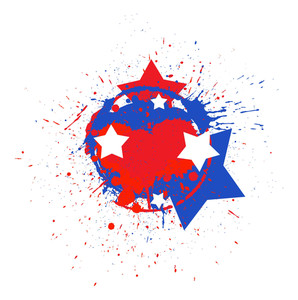 Dirty Stains Usa Independence Day Vector Theme Design