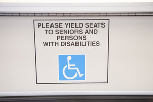 Disability sign on subway