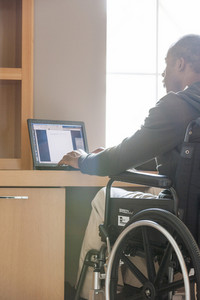 Disabled person at home