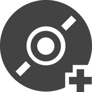 Disc Add Glyph Icon