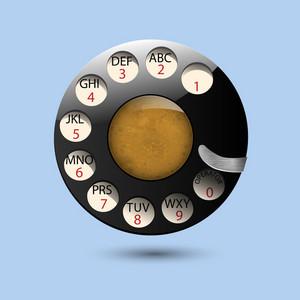 Disc Dials Of Old Retro Phone