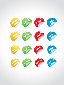 Discount Sales Shiny Round Colorful Labels