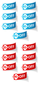 Discount Sticker Vectors Set
