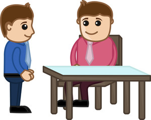 Discussing A Matter - - Vector Illustration
