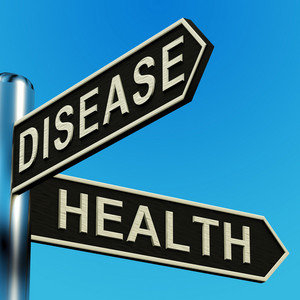Disease Or Health Directions On A Signpost