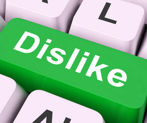 Dislike Key Means Hate Or Loathe