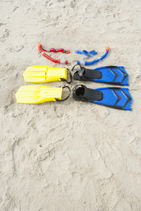 Diving gear on the beach