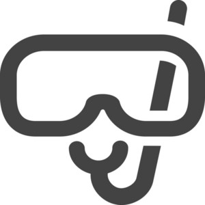 Diving Glass Glyph Icon