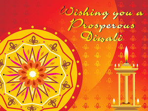 Diwali Background With Lamp