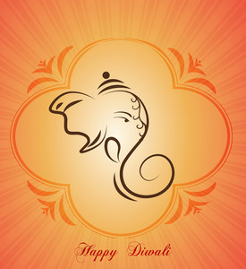 Diwali Card Vector Illustration