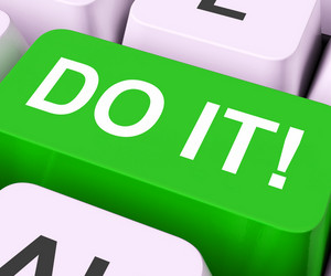 Do It Key Means Act Or Take Action Now