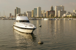 Docked-boat