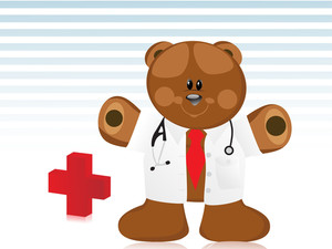 Doctor Bear With Medical Background