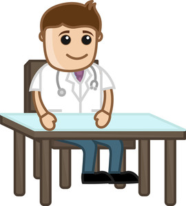 Doctor For Treatment - Medical Cartoon Characters