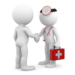 Doctor Shaking Hand With Patient