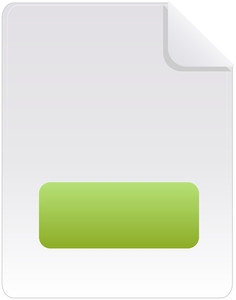 Document Icon With Green Minus Sign On White Background