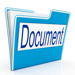 Document On File Means Organizing And Paperwork