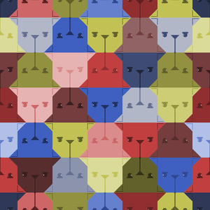 Dog Head Seamless Pattern.