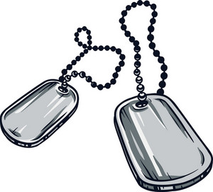 Dog Tag Vector Element
