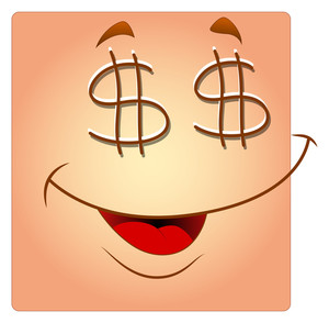 Dollar Eyes Happy Box Smiley