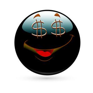 Dollar Eyes Happy Smiley