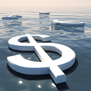 Dollar Floating And Currencies Going Away Showing Money Exchange Or Forex