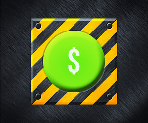 Dollar Green Button