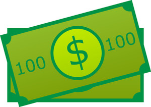 Dollar Icon On White Background
