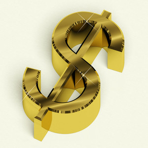 Dollar Sign As Symbol For Money Or Wealth