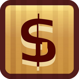 Dollar Sign Brown Tiny App Icon
