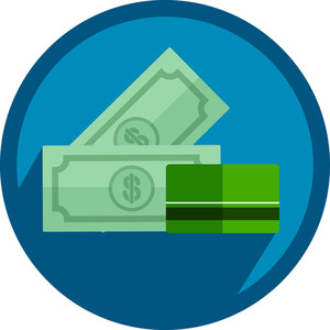 Dollars And Credit Card Icon