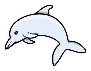 Dolphin - Cartoon Vector Illustration