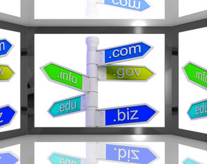 Domains On Screen Showing Internet Domains