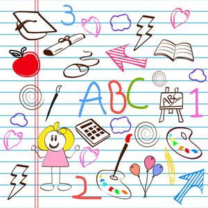 Set Doodle: desenhado mão do alfabeto